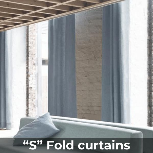 """""""S"""" Fold curtains"""